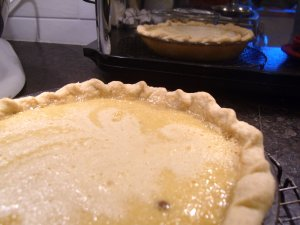 Magic maple custard pie