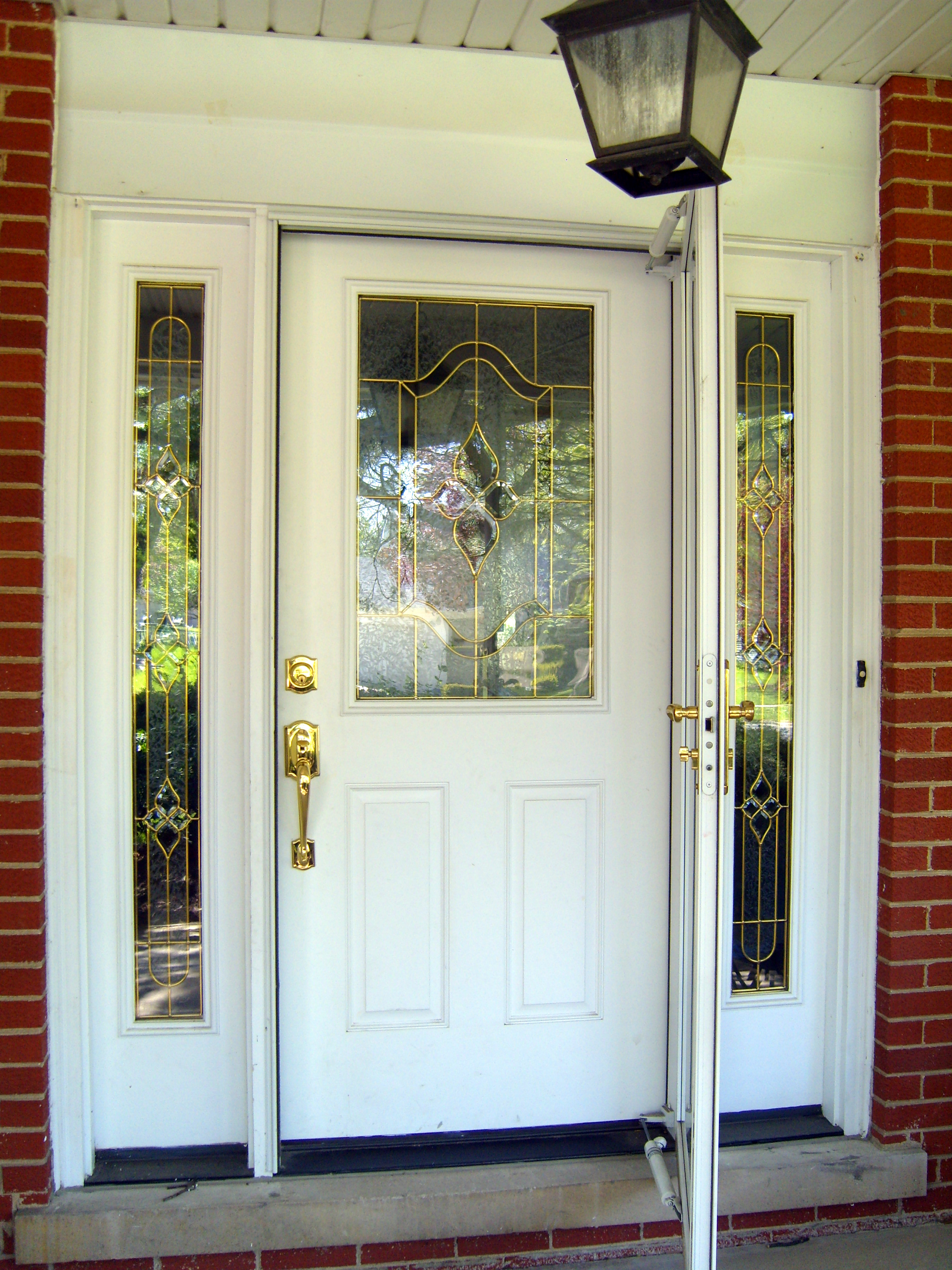 Painting the front door home baked for Exterior door paint