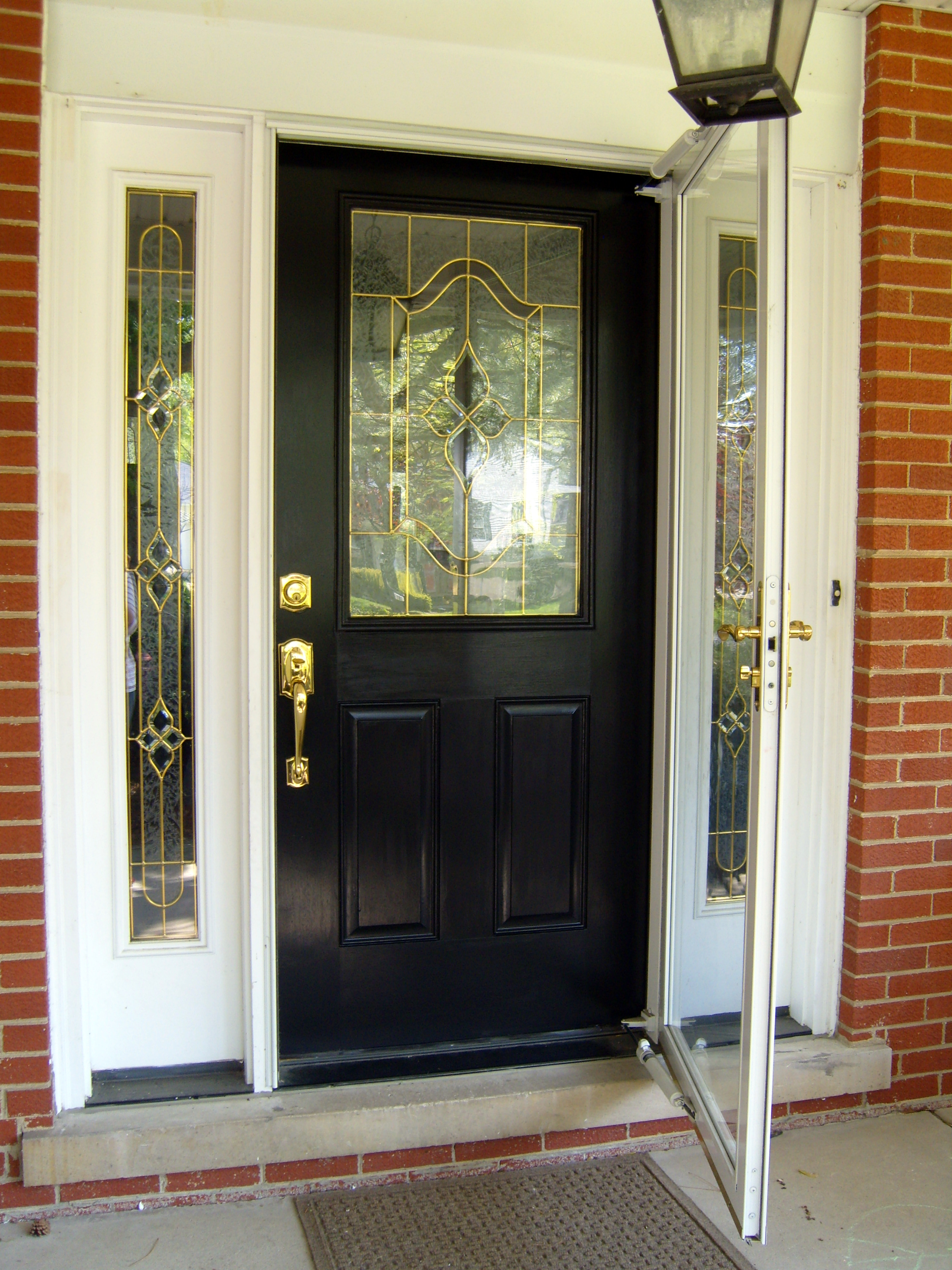 Painting the front door home baked for Glass door in front of exterior door