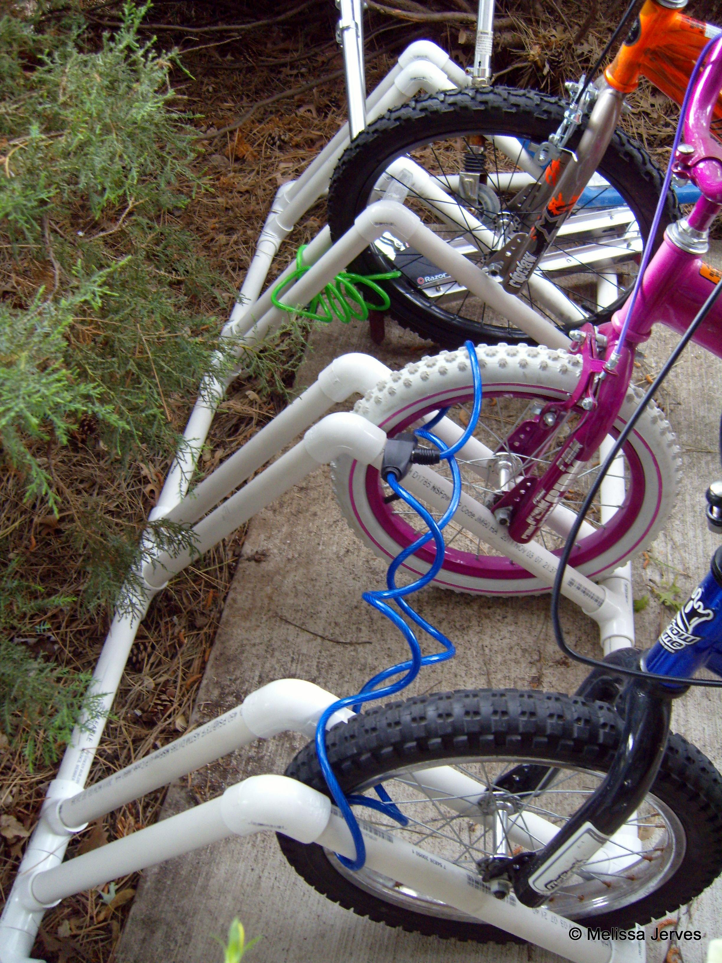 Pvc Bike Rack Home Baked