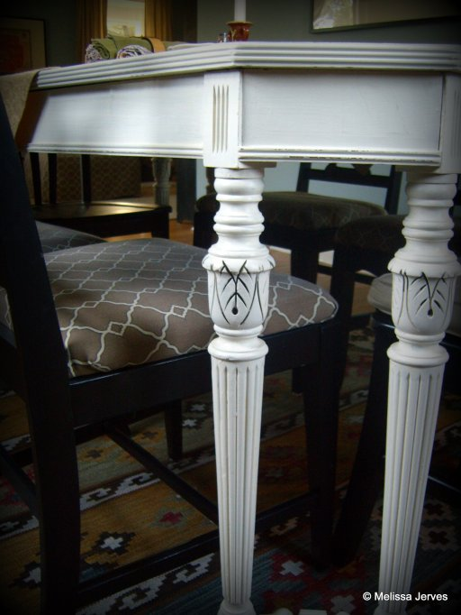 Homemade chalk paint a dining table makeover home baked for Dining room tables painted with chalk paint
