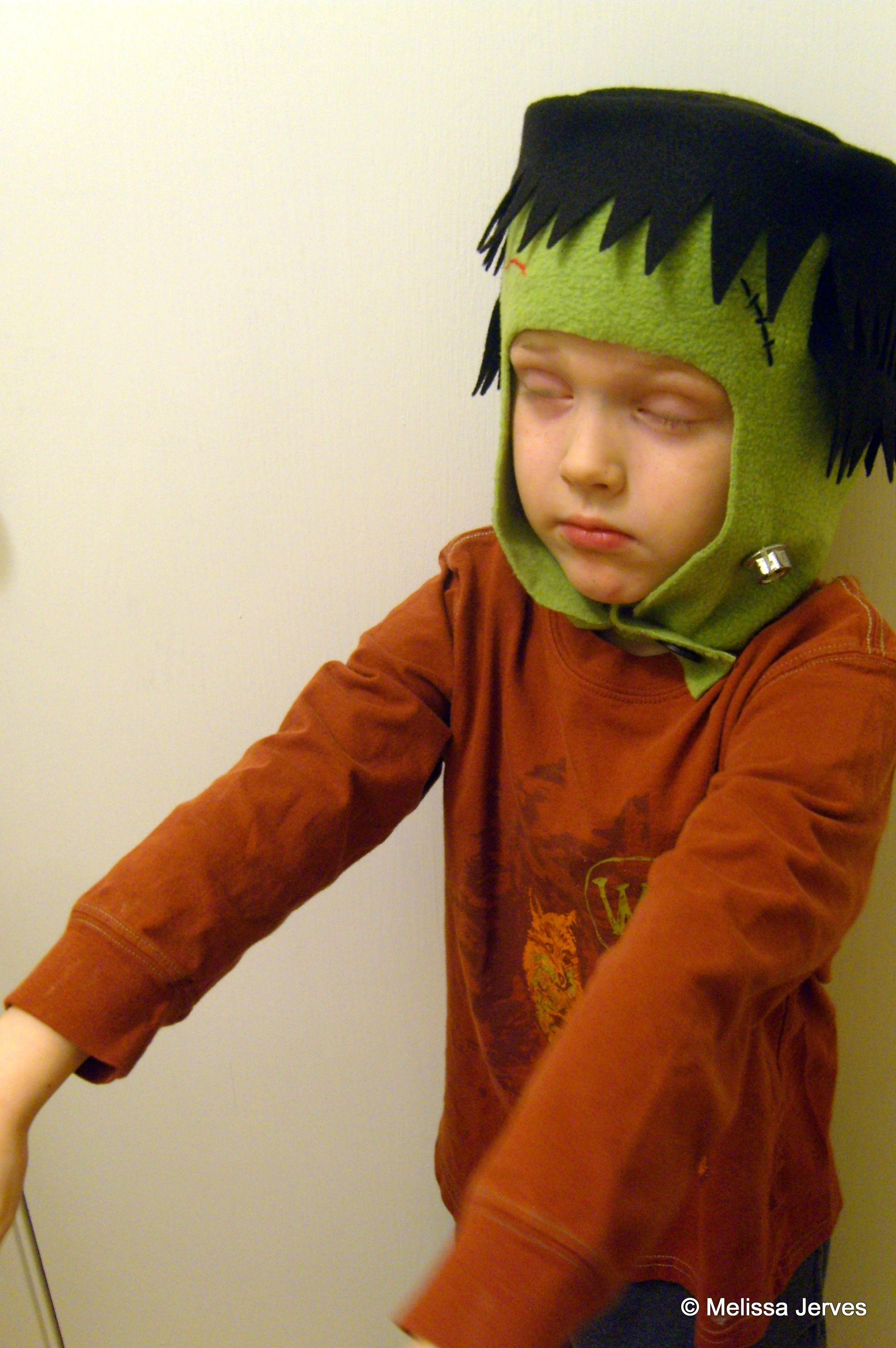 Crafts home baked frankenstein hat and wore it through an entire piano lesson and several hours of play well add some green face paint and some ragged clothes for solutioingenieria Image collections