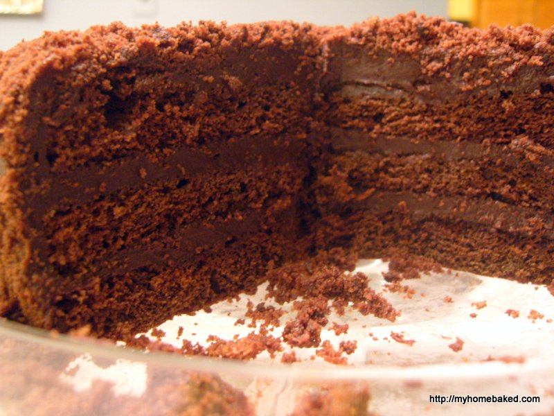 Chocolate cake with tomato soup