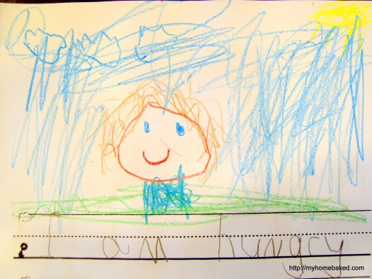 Self portrait on the 2nd day of kindergarten.