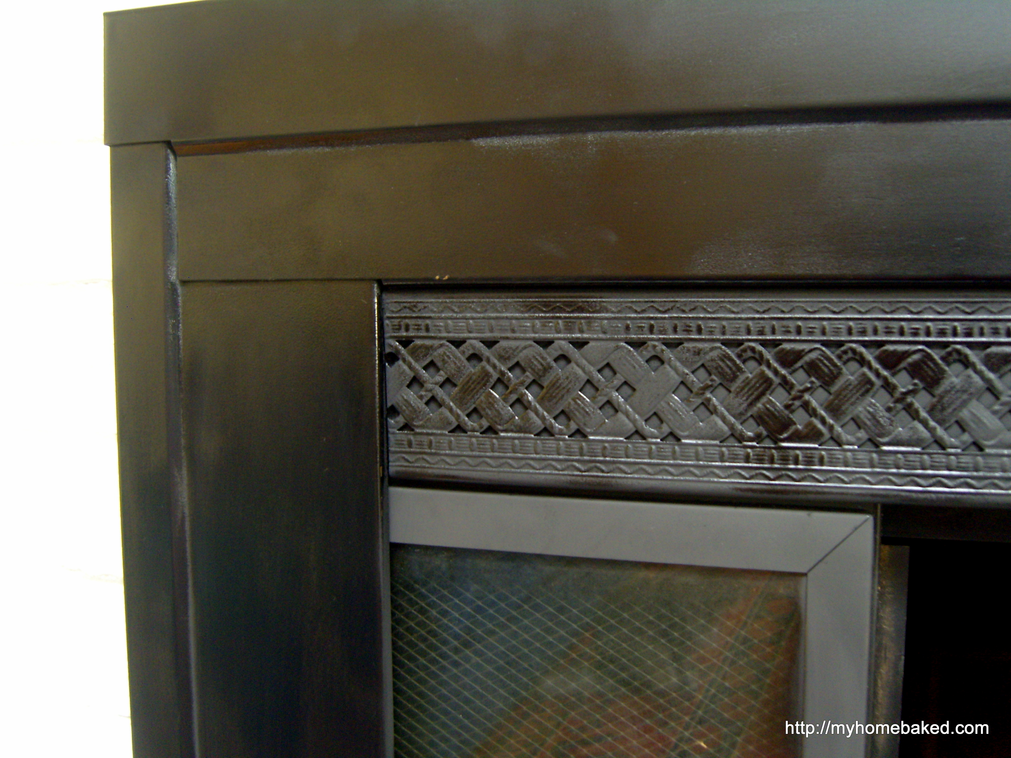 Painting brass fireplace doors | Home Baked