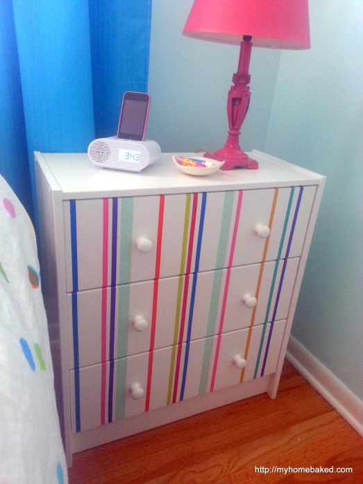 Washi tape Ikea RAST makeover